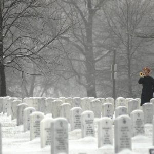 arlington national cemetery, washington dc, bugler